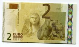 """Belle Carte De Visite Représentant Un Billet De 2€ Fictif """"CGB"""" 2013 Paris - La Dame De Brassempouy - EURO"""