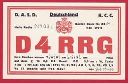 CARTE RADIO AMATEUR – D4RRG – DEUTSCHLAND 1932 - Amateurfunk
