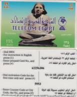 EGYPT - The Scribe(white Border), Telecom Egypt Prepaid Card 15 L.E., Used - Egypt