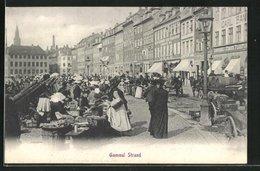 AK Kopenhagen, Gammel Strand, Markttag - Denemarken