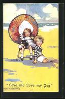 Künstler-AK Agnes Richardson: Kleines Paar Mit Hund Am Strand - Other Illustrators