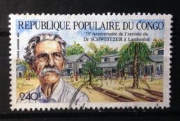 Congo, 1988- 75e Anniversaire De L'arrivèe Du Dr Schweitzer à Lambarènè. Used - Congo - Brazzaville