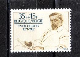 Belgio  - 1981. Ovide Decroly, Celebre Medico Pedagogo Belga. Famous Belgian Pedagogue Doctor. MNH - Altri