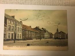 CHATELET PLACE SAINT ROCH  1907   BELLE CARTE EN COULEUR - Châtelet