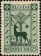 Rhodes Scott #77, 1935, Hinged - Ägäis (Rodi)