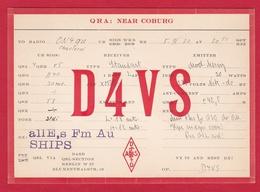 CARTE RADIO AMATEUR – D4VS – Berlin, Germany 1930 - Amateurfunk