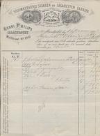 Sigaren - Sigaretten Fabriek - Gebr. Philips - Kleinrond Maastricht - Valkenburg - 1887 - Oude Nota - Willem III - Nederland