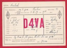 CARTE RADIO AMATEUR – D4VA – Ansbach, Germany 1929 - Amateurfunk