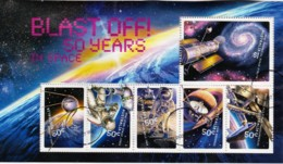 Australia 2007 Blast Off! 50 Years In Space Minisheet Used - Used Stamps