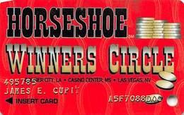 Horseshoe Casino - Bossier, LA - Slot Card - 3 Casinos Listed On Front - Casinokarten