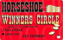 Horseshoe Casino - Bossier, LA - Slot Card - 2 Casinos Listed On Front - Casinokarten