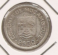 MOCAMBIQUE Mozambique 2$50 1935 SILVER - Mozambique