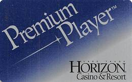Horizon Casino - Lake Tahoe, NV - BLANK Slot Card - Logo On Reverse - Casino Cards