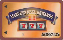 Harvey's Casino - Lake Tahoe, NV - BLANK Reel Rewards - Small 2.8 Inch Banner - Slot Card (has Glue On Back) - Casino Cards