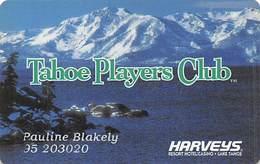 Harvey's Casino Lake Tahoe, NV - Slot Card - Powercard Over Mag Stripe - Casino Cards