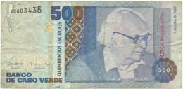 CAPE VERDE - 500 ESCUDOS - 01.07.2002 - P 64.b - Doutor Baltasar Lopes Da Silva - Cape Verde