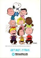 Advertising Metropolitan Life Insurance Company Charlie Brown Snoopy & The Gang 1989 - Advertising