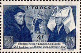 France Poste N** Yv: 583 Mi:596 Nicolas Rolin & Guigone De Salins - France