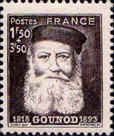 France Poste N** Yv: 601 Mi:614 Charles Gounod Compositeur (Petit Def.gomme) - France
