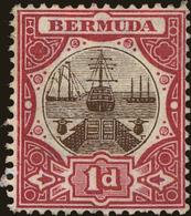 Bermuda Scott #42b, 1916, Stanley Gibbons No., Hinged - Bermuda
