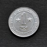 1959 KOREA 1 Chon 2 Stars, ☆☆ Km5 UNC COIN CURRENCY SOCIALISM ASIA - Korea (Nord-)