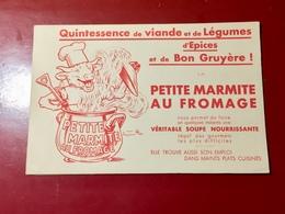 BUVARD - PETITE  MARMITE  AU  FROMAGE  D' Après  Benjamin Ravier - Alimentaire