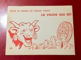 BUVARD - LA  VACHE  QUI  RIT (Toute La Famille Rit  Quand  Parait  La Vache Qui Rit ) - Alimentaire
