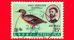 ETIOPIA - Usato - 1967 - Uccelli - Birds - Blue-winged Goose (Cyanochen Cyanoptera) - 15 P. Aerea - Etiopia