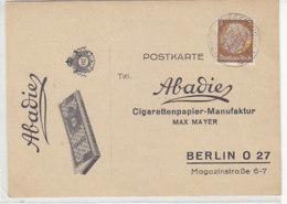 Hübsche Zigarettenpapierreklame Aus SIEGERSDORF-BUNZLAU 21.9.36 Rückseite! - Germania