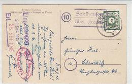 LANDPOST Mit 43Aa Aus (10) Saalhausen über Freital 21.9.45 Nach Chemnitz / AK-Freital - Zone Soviétique