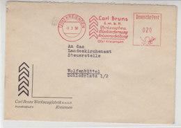 Freistempel Der Carl Bruns G.m.b.H. Aus (20b) KREIENSEN 8.3.50 Nach Wolfenbüttel - [7] Federal Republic