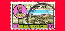 ETIOPIA - Usato - 1964 - Grandi Leader Etiopi II - Fasilades, Imperatore Dal (1682-1706) - 10 - Etiopia