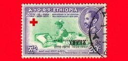 ETIOPIA - Usato - 1959 - Centenario Della Croce Rossa - Sovrastampato - 20+3 - Etiopia