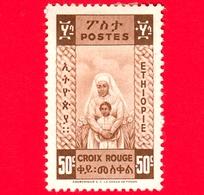 ETIOPIA - Nuovo - 1936 - Nurse & Baby - Croce Rossa - 50 +50 - Non Emesso - Etiopia