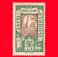 ETIOPIA - Nuovo - 1919 - Vedute - Giraffe (Giraffa Camelopardalis) - ¼ - Etiopia
