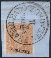 MEXICO - 1866, MAXI.- 25c. 39-1866, VERACRUZ, USED IN FRAGMENT, SEPTEMBER 11 - Mexico