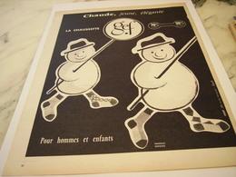 ANCIENNE PUBLICITE LA CHAUSETTE  DE GEF 1963 - Habits & Linge D'époque