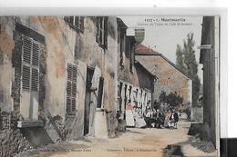 MONTMARTIN N 1527  BUREAU TABAC ET CAFEV HOBSTETER  PERSONNAGES SUR TERRASSE COULEURS   DEPT 10 - France