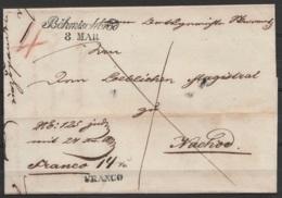"""L. Datée 7 Mars 1848 De Český Brod (Tchéquie) Pour ??? Càd Cursive """"Böhmischbrod /8 MAR"""" - Port """"4"""" - Griffe """"FRANCO"""" - Tchécoslovaquie"""