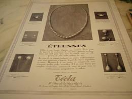 ANCIENNE PUBLICITE BIJOU TECLA ETRENNE 1928 - Bijoux & Horlogerie