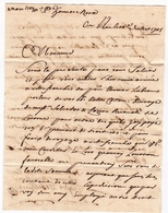 Lettre 1845 Nice Nizza Marseille Pierre Honoré Roux Balles De Coton Cotone Salvador Et Lazzero Recanati Livorno - Sardaigne