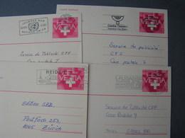 CH 4 Alte Karten  , Schöne Stempel Ca. 1980 - Ganzsachen