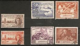 ANTIGUA 1946 VICTORY AND 1949 UPU SETS FINE USED Cat £10.60 - Antigua & Barbuda (...-1981)