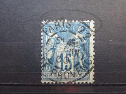 """VEND BEAU TIMBRE DE FRANCE N° 101 , OBLITERATION """" PARIS - R. DE PROVENCE """" !!! - 1876-1898 Sage (Type II)"""