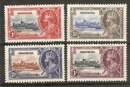 BERMUDA 1935 SILVER JUBILEE SET SG 94/97 LIGHTLY MOUNTED MINT Cat £23 - Bermuda