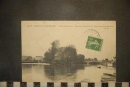 CP, 92, Hauts De Seine,  COURBEVOIE, L'Ile D'Amour,Pont De Neuilly Et Pont De Courbevoie,4429, E.M - Courbevoie