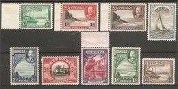 BERMUDA 1936 - 1947 SET SG 98/106 MOUNTED MINT Cat £32 - Bermuda