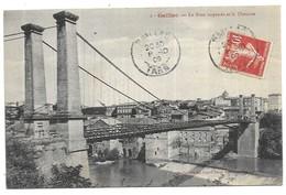 Gaillac Bords Le Pont Suspendu Et La Chaussée - Gaillac