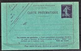 France Entier Postal Pneumatique YT CLPP4 Date Oblique 023 - Postwaardestukken