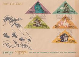 Enveloppe  FDC  1er  Jour   BHOUTAN   L' Abominable   Homme  Des  Neiges   1966 - Bhoutan